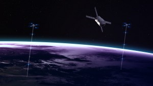 High quality Earth image with space elevators. Elements of this image furnished by NASA