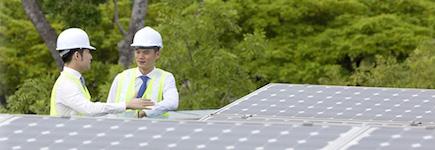 太陽光発電所のメンテナンス無料イメージ画像
